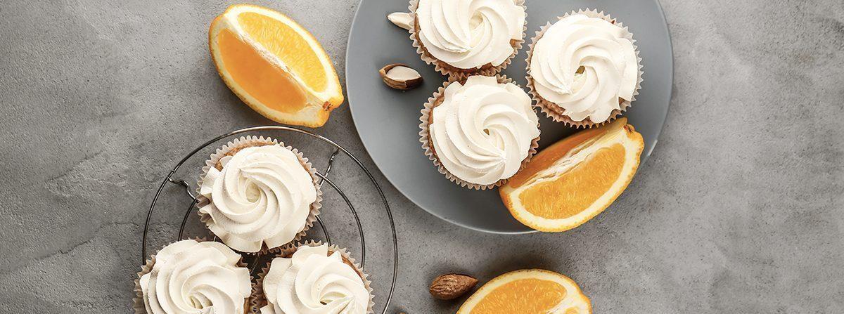 Mini cupcake con marmellata di arance e cream cheese